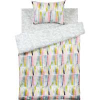 Комплект постельного белья «Плитка» полутораспальный поплин цвет серый/розовый/белый