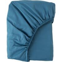 Простыня двуспальная Mona Liza Premium, 200x180 см, сатин, цвет сине-голубой