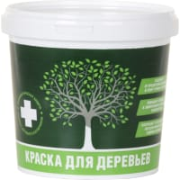Краска для деревьев акриловая 1.2 кг цвет белый