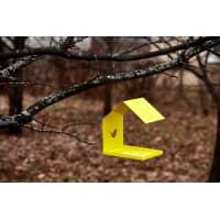 Кормушка для птиц цвет жёлтый