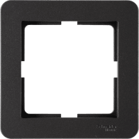 Рамка для розеток и выключателей Schneider Electric W59 Deco 1 пост, цвет графит