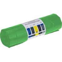 Мешки для мусора 160 л с завязками, цвет зелёный, 10 шт.