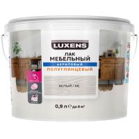 Лак для мебели Luxens акриловый цвет белый полуглянцевый 0.9 л