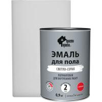 Эмаль для пола Простокраска цвет светло-серый 0.9 кг