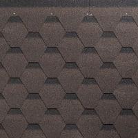 Гибкая черепица Roofmast Соната коричневый 3 м²