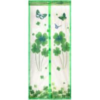 Москитная сетка-штора на дверь 45x210 см, цвет серый/зелёный, 2 шт.