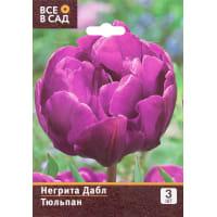 Тюльпан «Негрита Дабл» размер луковицы 10/11, 3 шт.