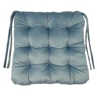 Сидушка для стула «Бархат» 40x36 см цвет серо-голубой
