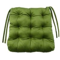 Сидушка для стула «Бархат» 40x36 см цвет зелёный