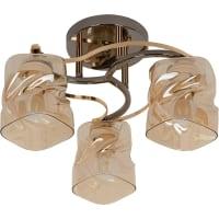 Люстра потолочная Modern 117/3, 3 лампы, 40 м², цвет золотой/бежевый