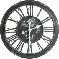 Часы настенные пластик серый антик 60х5х60 см