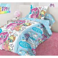 Комплект постельного белья «Pony ice» полутораспальный бязь разноцветный