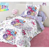 Комплект постельного белья «School» полутораспальный бязь разноцветный