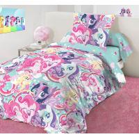 Комплект постельного белья «Pony team» полутораспальный бязь разноцветный