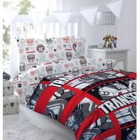 Комплект постельного белья «Decepticon» полутораспальный бязь разноцветный