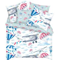 Комплект постельного белья «Лётчики» полутораспальный бязь разноцветный