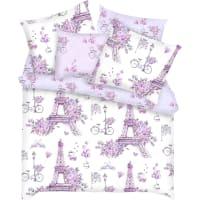 Комплект постельного белья «Парижанки» полутораспальный бязь разноцветный
