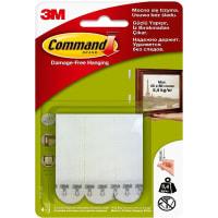 Застёжки для картин Command средние белые, 4 шт.