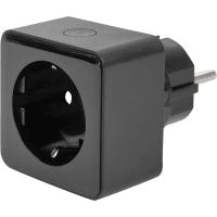 Умная розетка Яндекс YNDX-0007B, 16А, Wi-Fi, цвет черный