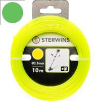 Леска сменная для триммера Sterwins 2.5 мм х 10 м, круг, цвет жёлтый