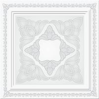 Декоративная плита для потолка МартинПласт Ренессанс Рн - 013 жемчуг 50х50 см