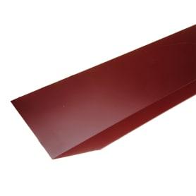Планка примыкания верхняя с полиэстеровым покрытием 2 м цвет красный