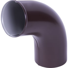 Отвод выходной 80 мм цвет коричневый