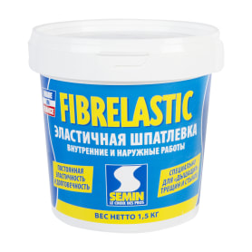 Шпаклёвка эластичная Semin Fiberlastic, 1.5 кг