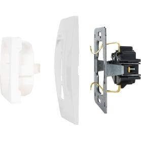 Рамка для розеток и выключателей Schneider Electric Unica 1 пост, цвет белый
