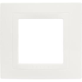 Рамка для розеток и выключателей Schneider Electric Unica 1 пост, цвет бежевый