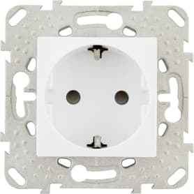 Розетка встраиваемая Schneider Electric Unica с заземлением, со шторками, цвет белый