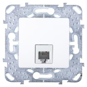 Телефонная розетка Schneider Electric Unica RJ11 1 разъем цвет белый