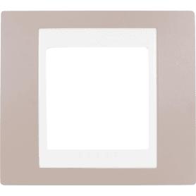 Рамка Schneider Electric Unica, хамелеон, 1 пост, цвет коричневый/бежевый