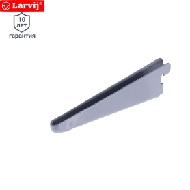 Кронштейн прямой двухрядный 17 см нагрузка до 83 кг цвет алюминий