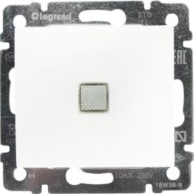 Выключатель встраиваемый Legrand Valena 1 клавиша с подсветкой, цвет белый