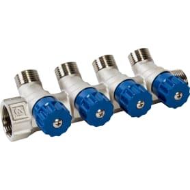 """Коллектор с регулирующими вентилями и наружной резьбой Valtec на 4 выхода, 3/4""""x1/2"""""""