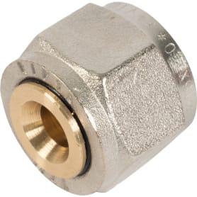 Соединитель коллекторный Valtec, обжимной, для металлопластиковой трубы, 16 мм, никелированная латунь