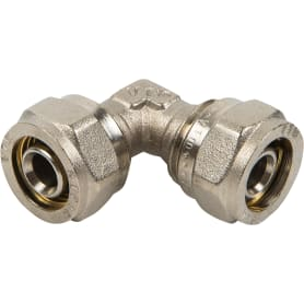 Угол обжимной Valtec, 16 мм, никелированная латунь