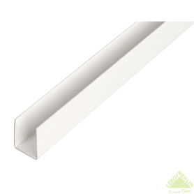 U-Профиль ПВХ 18x10x1x1000 мм, цвет белый