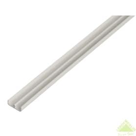 Ш-Профиль нижний Gah Alberts 6.5x5x2000 мм ПВХ цвет белый