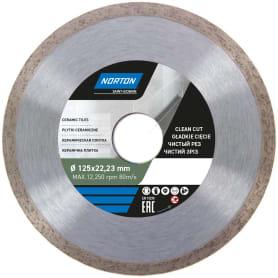 Диск алмазный для плитки Norton Ceram со сплошной кромкой 125x22.2 мм
