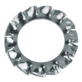 Шайба зубчатая DIN 6798 6 мм, 12 шт.