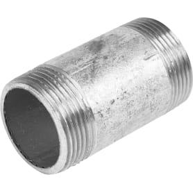 """Бочонок резьбовой, оцинкованный, наружняя резьба, 1 1/4""""х70 мм, сталь"""