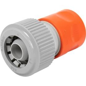 Коннектор для шланга быстросъёмный с автостопом Gardena Classiс, 3/4- 5/8 дюйма.