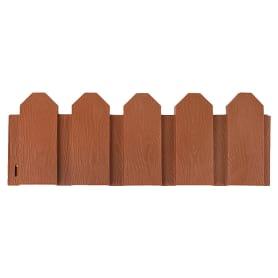 Ограждение садовое декоративное «Дачник» 3 м цвет терракотовый