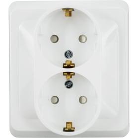 Розетка Schneider Electric Этюд с заземлением 2 разъёма цвет белый