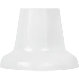 Патрон-стойка пластиковая Е27 прямая цвет белый