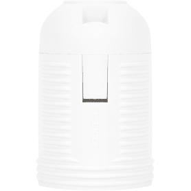 Патрон пластиковый Е27 цвет белый