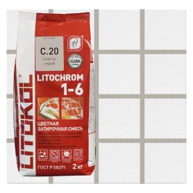 Затирка цементная Litochrom 1-6 С.20 2 кг цвет светло-серый