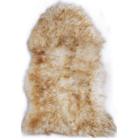 Шкура овечья одинарная, 0.95x0.55 м цвет палевый